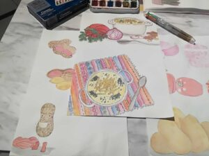 ピーナッツスープはボリビア料理で人気の一品。