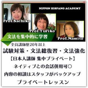 スペイン語文法集中学習日本人講師プライベートレッスン画像小