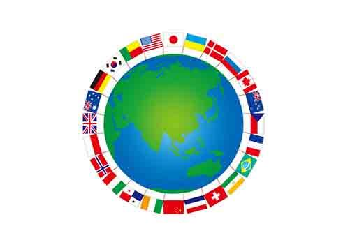 世界国旗の地球儀