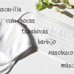 スペイン語圏のマスク名一覧画像
