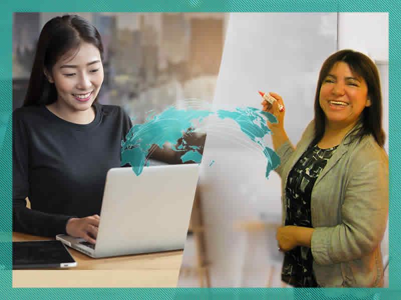 スペイン語オンラインレッスンのイメージ画像、講師マリアエレナ、生徒高木さん